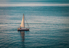 Sailboat in Adriatic Sea Stock Images