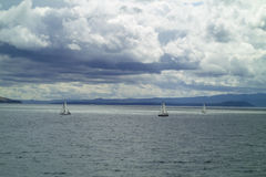 Sailboat in Adriatic sea Royalty Free Stock Photography