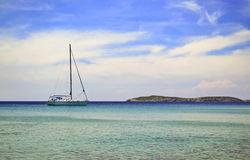 Sailboat in Aegean sea Greece Royalty Free Stock Photos
