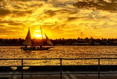 Key West Sunset from Mallory Square royalty free stock images