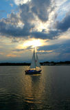 Sailboat against the sky Royalty Free Stock Images