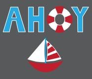 Sailboat Ahoy ελεύθερη απεικόνιση δικαιώματος