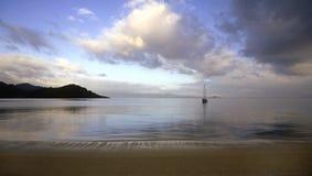 Sailboat at anchor Royalty Free Stock Photos