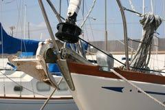 Sailboat anchor royalty free stock photography