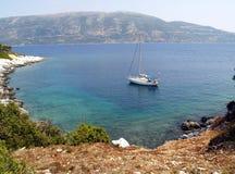 Sailboat at anchor Stock Image