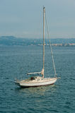 Sailboat anchored Royalty Free Stock Photo