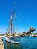 Sailboat anchored at Barcelona Stock Photography