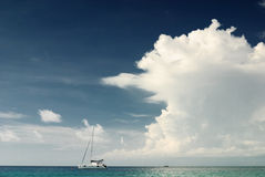 Sailboat on Andaman sea Stock Images
