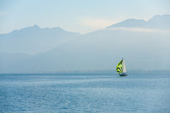 Sailboat Annecy Lake French Alps Royalty Free Stock Photo