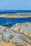 Sailboat in archipelago Royalty Free Stock Images