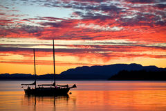 Free Sailboat At Sunset On The West Coast Of British Columbia Stock Image - 96949191