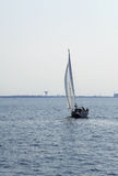 Sailboat in Baltic sea. Beautiful sailboat in Baltic sea Royalty Free Stock Image
