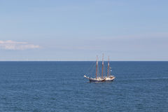 Sailboat in the Baltic Sea Stock Images