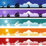Sailboat Banner Set Royalty Free Stock Images