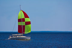 Sailboat on the bay Stock Photography