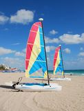 Sailboat on a beach Royalty Free Stock Photos
