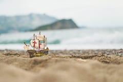 Sailboat. On the beach near the sea royalty free stock photography