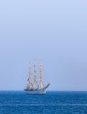 Sailboat. Beautiful sailboat on a background of clear sky Stock Photos