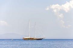 Sailboat. A Sailboat with blue sky Stock Photos