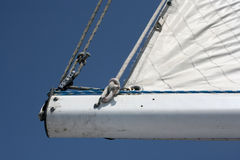 Sailboat boom Stock Images