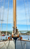 Sailboat bowsprit Royalty Free Stock Photo