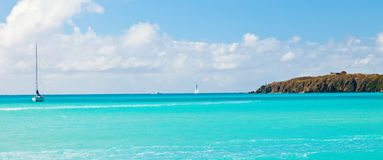 Sailboat on the Caribbean Royalty Free Stock Photos