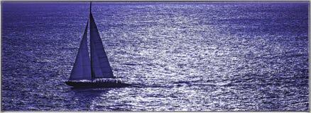 Sailboat on the Caribbean Stock Photos