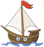 Sailboat cartoon stock illustration