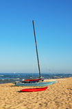 Sailboat, Catamaran and Kayak Royalty Free Stock Photos