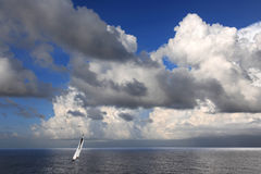 Sailboat in the Cayman Islands Stock Photos