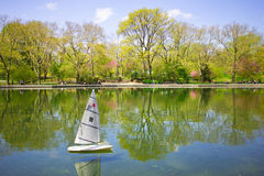 Sailboat Central Park modèle images stock