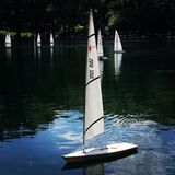 Sailboat in Central Park. Toy boat in Stock Photography