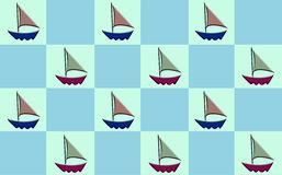 Sailboat Checker Royalty Free Stock Image