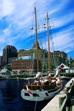 Sailboat in the City Royalty Free Stock Images