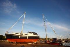 Sailboat in coast in copenhagen Stock Photography