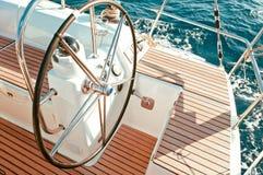 Sailboat cockpit Royalty Free Stock Photo