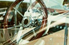 Sailboat cockpit Stock Images