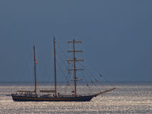 Sailboat. Cruise ship on the sea Stock Images