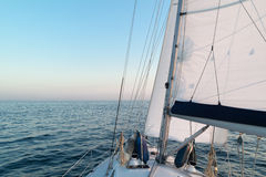 Sailboat  cruising at sea, Netherlands Stock Photography