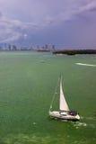 Sailboat de Biscayne Imagem de Stock Royalty Free