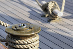 Sailboat deck Royalty Free Stock Photos