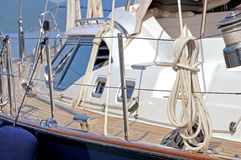 Sailboat deck Royalty Free Stock Photo