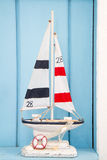 Sailboat decoration Royalty Free Stock Photos