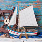 Sailboat decoration Royalty Free Stock Images