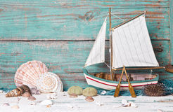 Sailboat decoration Royalty Free Stock Photo