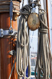 Sailboat detail stock image