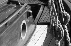 On the sailboat , detail Royalty Free Stock Photo