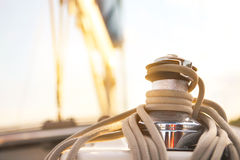 Sailboat detailed parts. Yachting concept Stock Photo