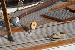 Sailboat details royalty free stock photos