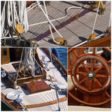 Sailboat details stock images
